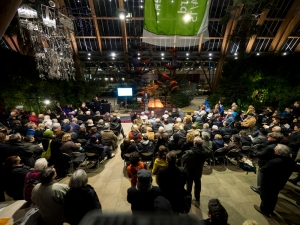 Holocaust Memorial Service 2015 at the Winter Garden, Sheffield