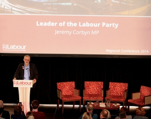 Jeremy Corbyn speaks at a Regional Labour Conference 2016