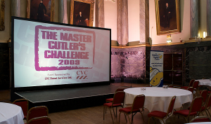 16' Wide Projected Backdrop - Master Cutler's Challenge, Cutlers' Hall, Sheffield
